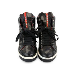 Camo Zip-Side Sneaker