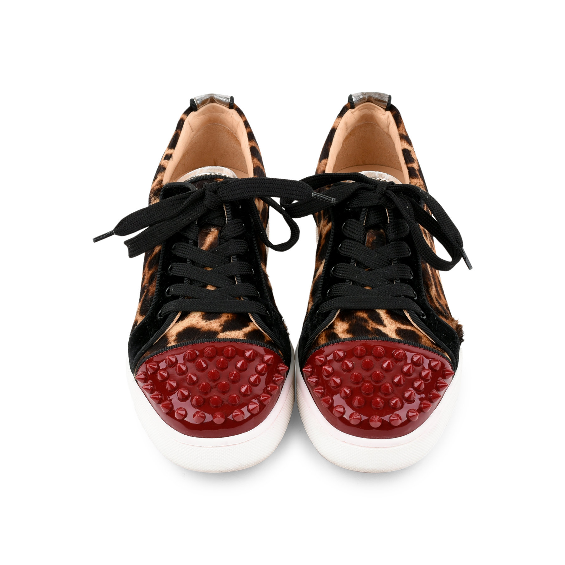 662b94c9f40 Authentic Second Hand Christian Louboutin Louis Junior Leopard Spike  Trainers (PSS-200-01271)