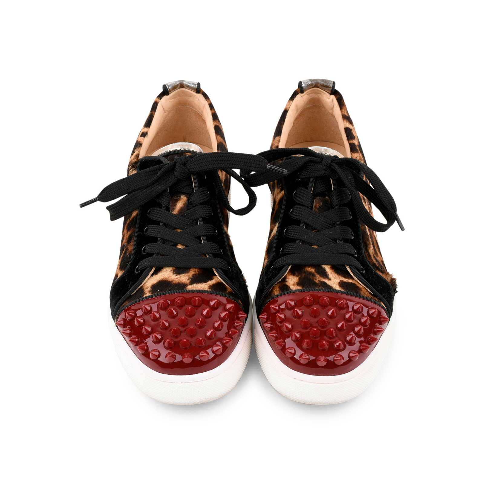 139dbf08dd2 Authentic Second Hand Christian Louboutin Louis Junior Leopard Spike ...