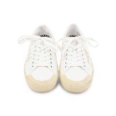 Yeah Baby Leather-Trimmed Embroidered Sneaker