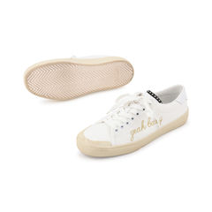 Saint laurent yeah baby leather trimmed embroidered sneaker 3?1521614276