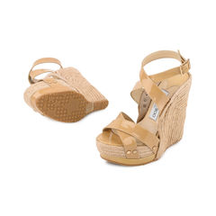 Jimmy choo patent espadrille wedges 4?1521690527