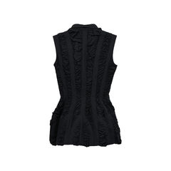 Azzedine alaia ruffled structured blouse 2?1522043389