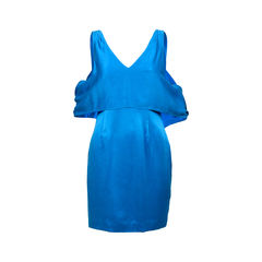Satin Shoulder Detail Dress