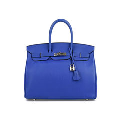 Bleu Electrique Birkin 35