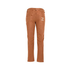 Chanel brown denim jeans 2?1522309415