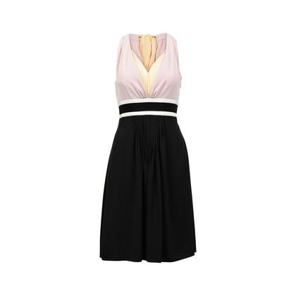 Authentic Second Hand Prada Bow Detail V-Neck Dress (PSS-071-00158)