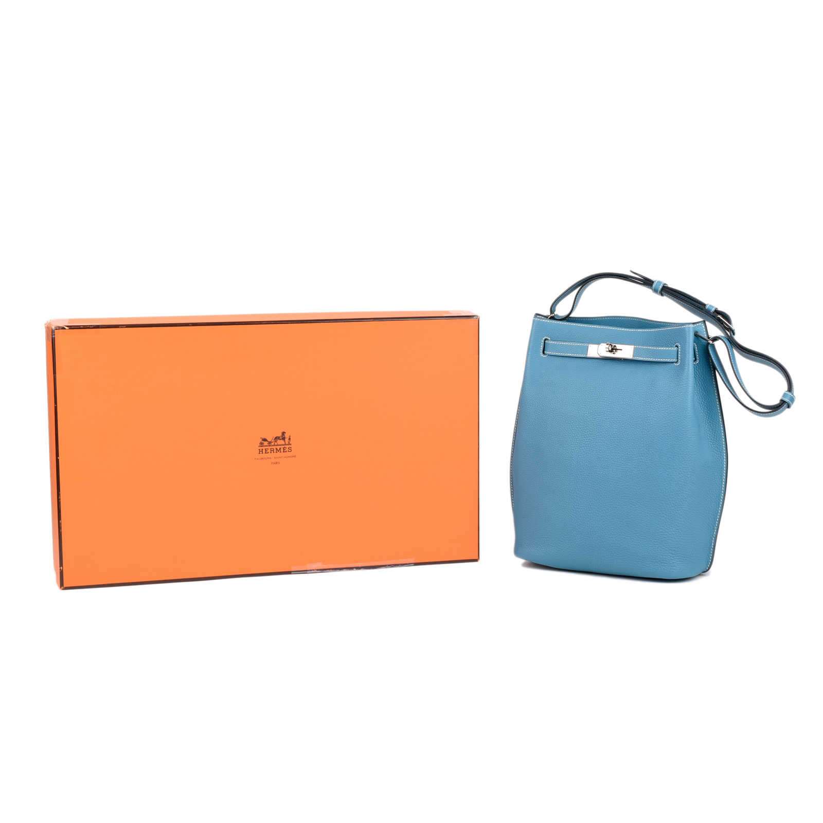 bac2ffed85c ... Authentic Second Hand Hermès Blue Jean So Kelly 22 (PSS-462-00044)