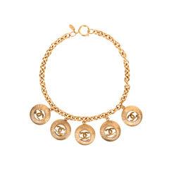 CC Medallion Charm Necklace