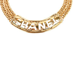 Chanel logo plaque necklace 2?1522495749
