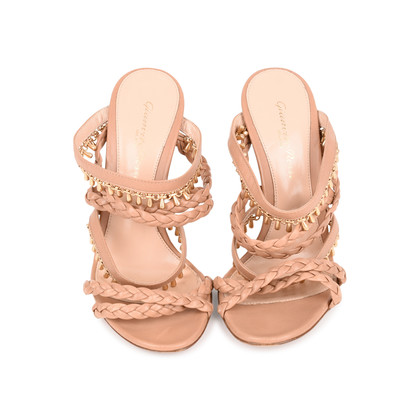Authentic Second Hand Gianvito Rossi Braided Bead Detail Sandals (PSS-462-00002)
