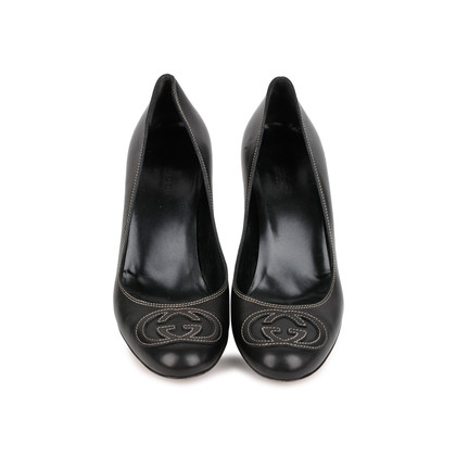 Authentic Second Hand Gucci Logo Detail Pumps (PSS-462-00004)