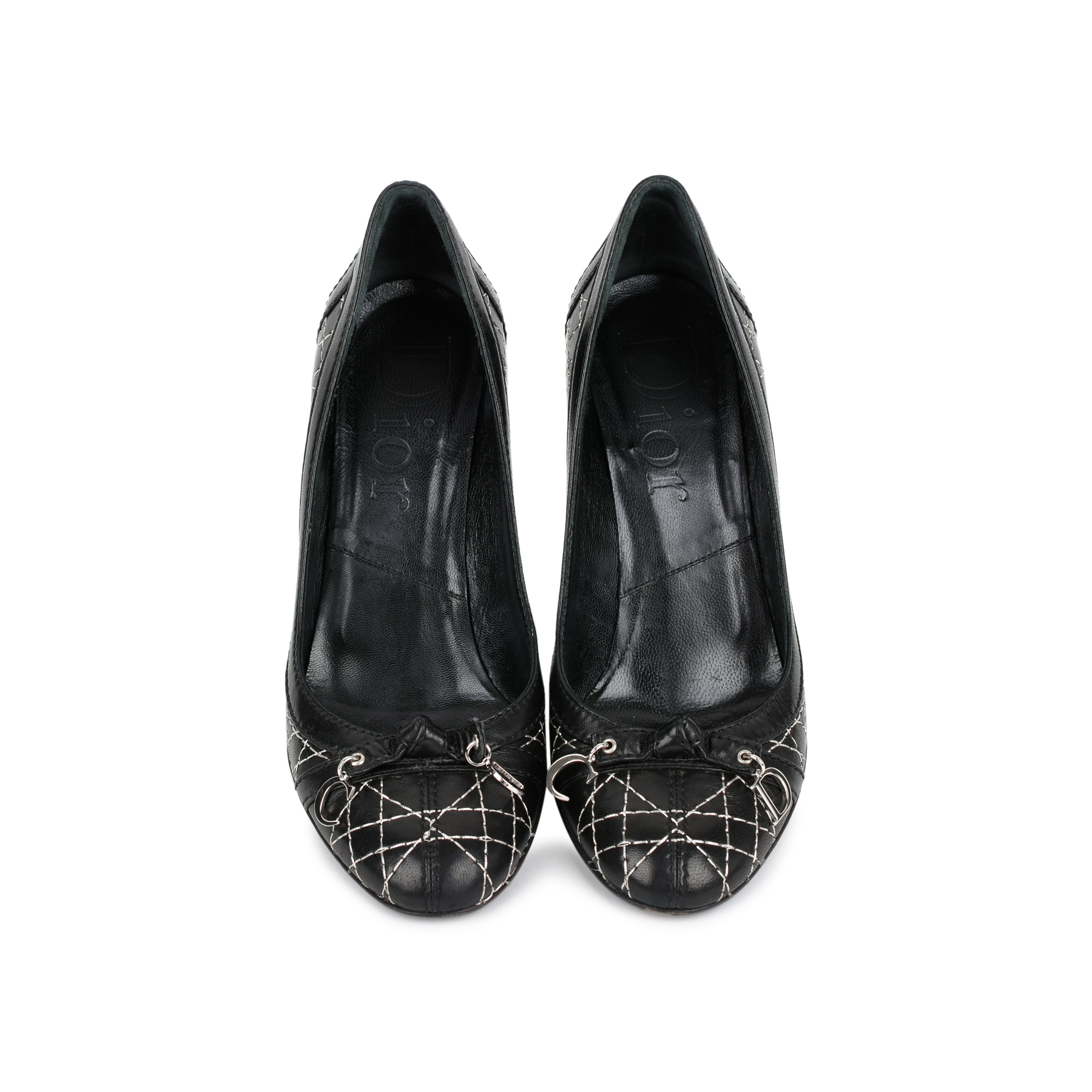 f8866303db Authentic Second Hand Christian Dior Cannage Quilted Pumps (PSS-462-00006)  - THE FIFTH COLLECTION