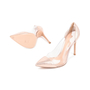 Authentic Second Hand Gianvito Rossi Metallic Rose Gold Plexi Pumps (PSS-462-00007) - Thumbnail 4