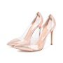 Authentic Second Hand Gianvito Rossi Metallic Rose Gold Plexi Pumps (PSS-462-00007) - Thumbnail 2