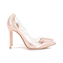 Authentic Second Hand Gianvito Rossi Metallic Rose Gold Plexi Pumps (PSS-462-00007) - Thumbnail 1