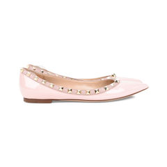 Valentino patent leather rockstud ballerinas 5?1522496738