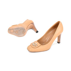 Gucci beige logo pumps 2?1522496807
