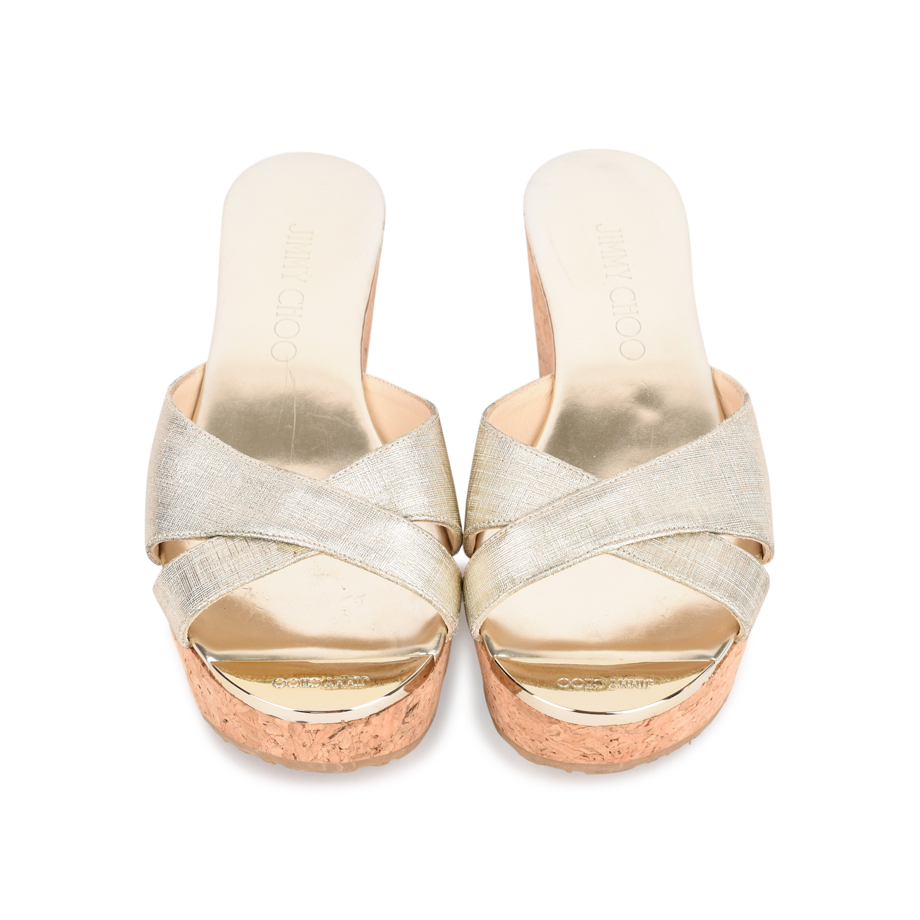 768d4bacffd Authentic Second Hand Jimmy Choo Prima Wedge Sandals (PSS-462-00037) - THE  FIFTH COLLECTION