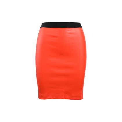 Authentic Second Hand Helmut Lang Leather Pencil Skirt (PSS-469-00001)