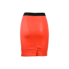 Helmut lang red knee length skirt 2?1522727923