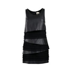 Leather Tiered Dress