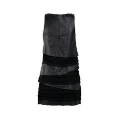 Under ligne leather tiered dress 2?1522728010