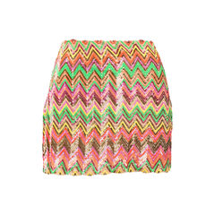 Chevron Sequin Embellished Skirt