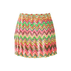 Haute hippie chevron sequin embellished skirt 2?1522728209