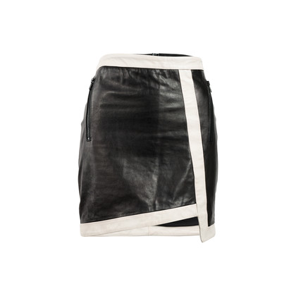 Authentic Second Hand Helmut Lang Evolution Warped Leather Skirt (PSS-469-00008)