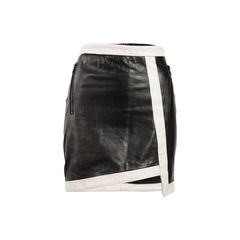 Evolution Warped Leather Skirt