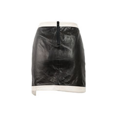 Helmut lang evolution warped leather skirt 2?1522728274