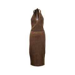 Metallic Knit Tie-Waist Dress
