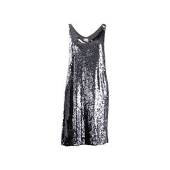 Grey Sequinned Dress