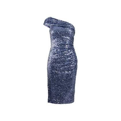 Authentic Second Hand Badgley Mischka Off-Shoulder Sequin Dress (PSS-469-00019)