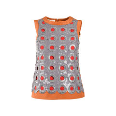 Sequinned Hole Sleeveless Top