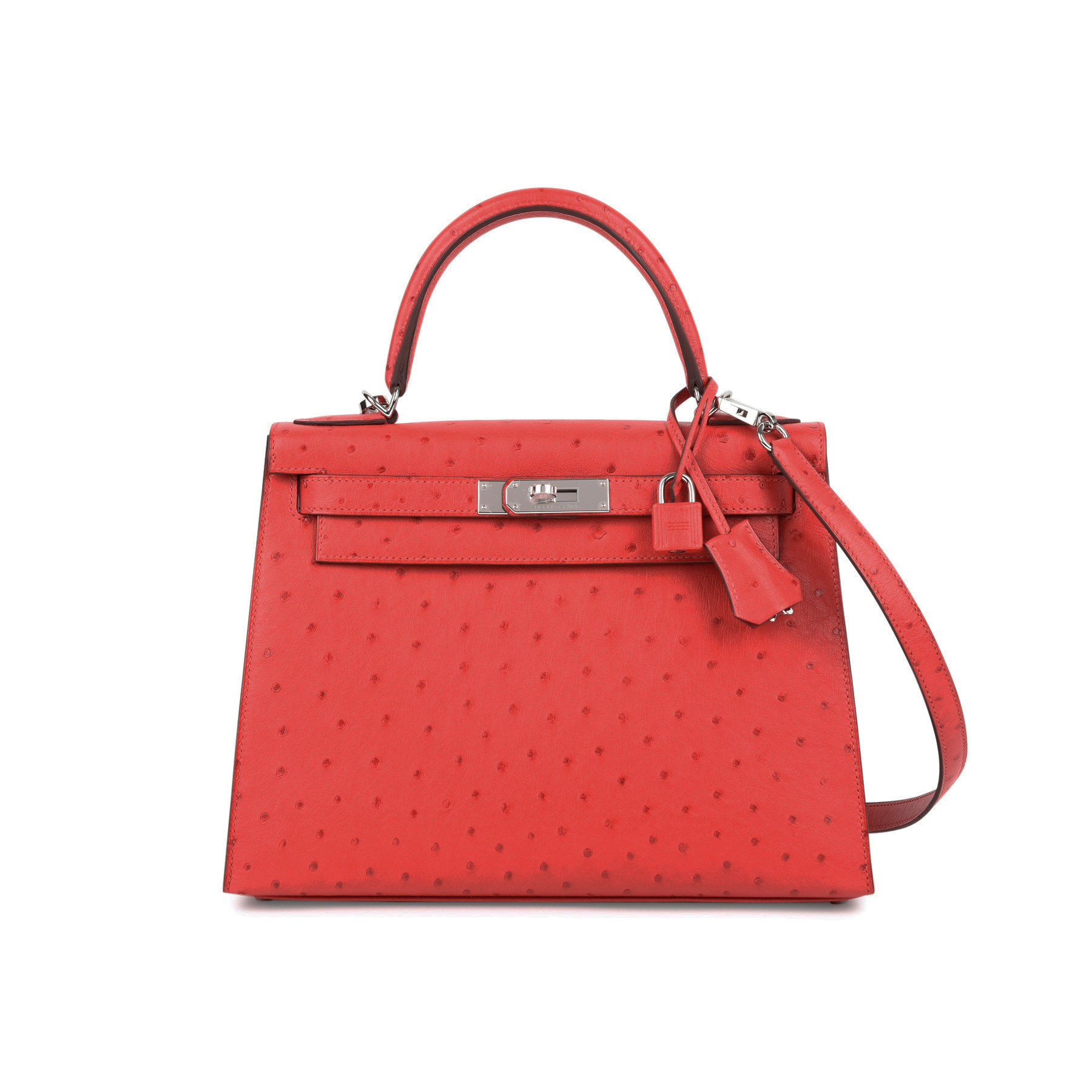 1818e87eaa ... shop second hand hermes rouge exotique ostrich kelly 28 the fifth  collection f292b 73d6b