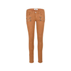 Zipped High-Rise Jeans