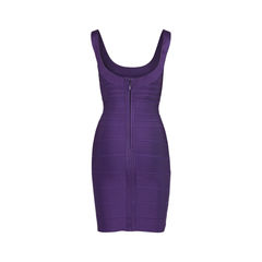 Herve leger scoop neck bandage dress purple 2?1522750401