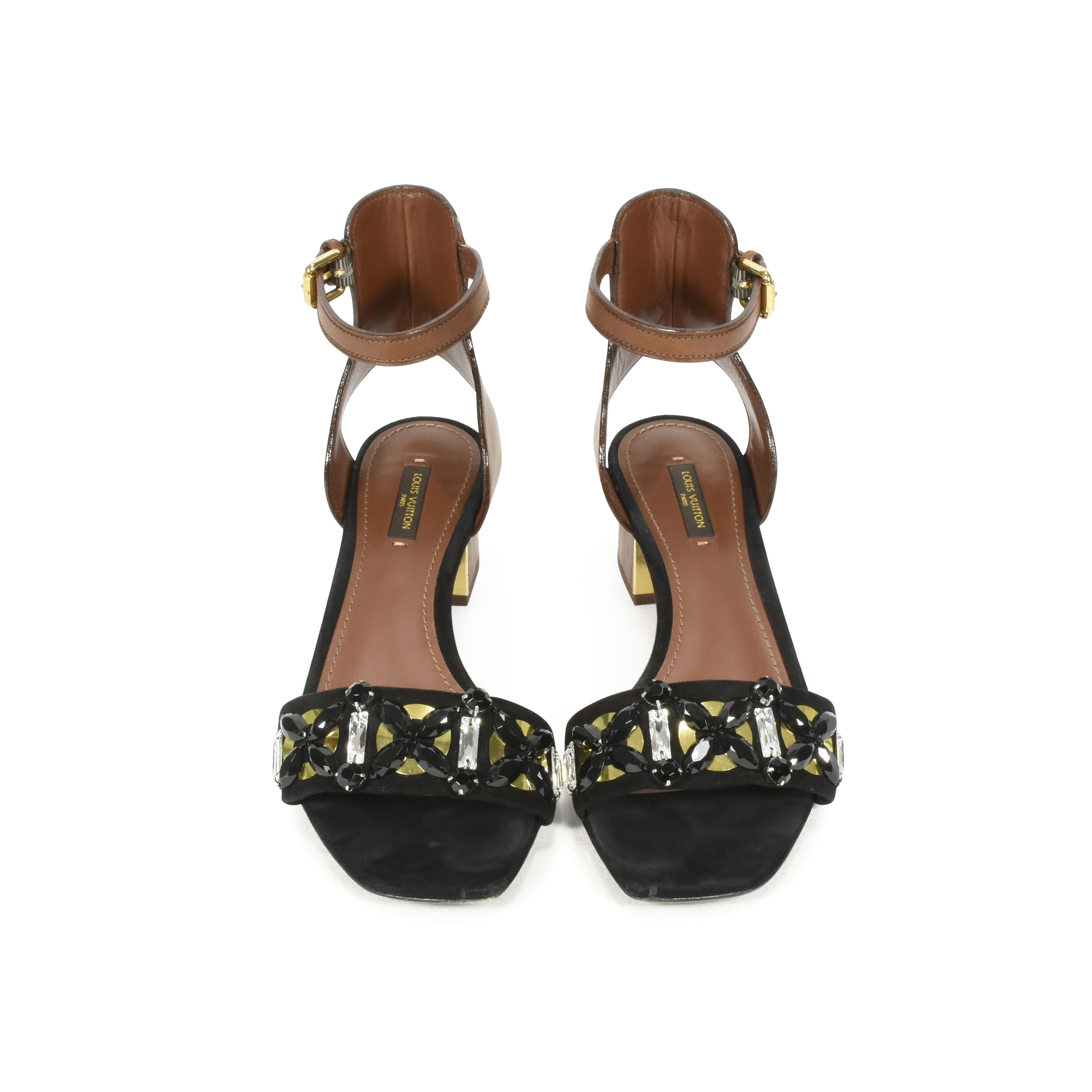447ddbb76e65 Authentic Second Hand Louis Vuitton Embellished Sandals (PSS-457-00001)