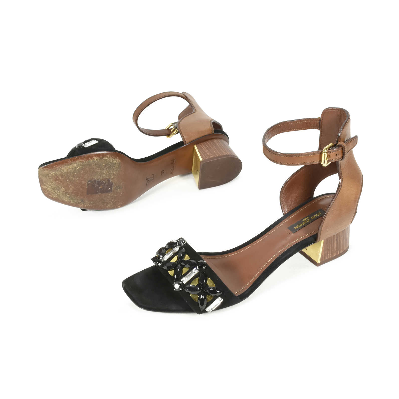 4c1cf9b236f4 ... Authentic Second Hand Louis Vuitton Embellished Sandals (PSS-457-00001)  - Thumbnail ...