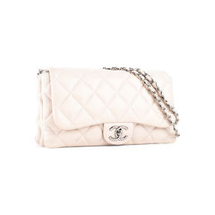 Chanel light beige lamb skin flap accordian phw 2?1522828310