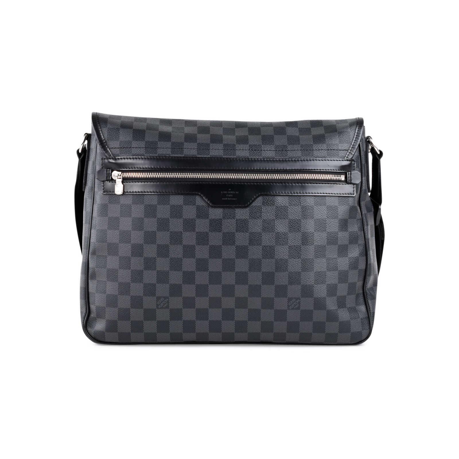 fa5accd4a657 ... Authentic Second Hand Louis Vuitton Damier Graphite Laptop Renzo  Messenger (PSS-462-00023 ...
