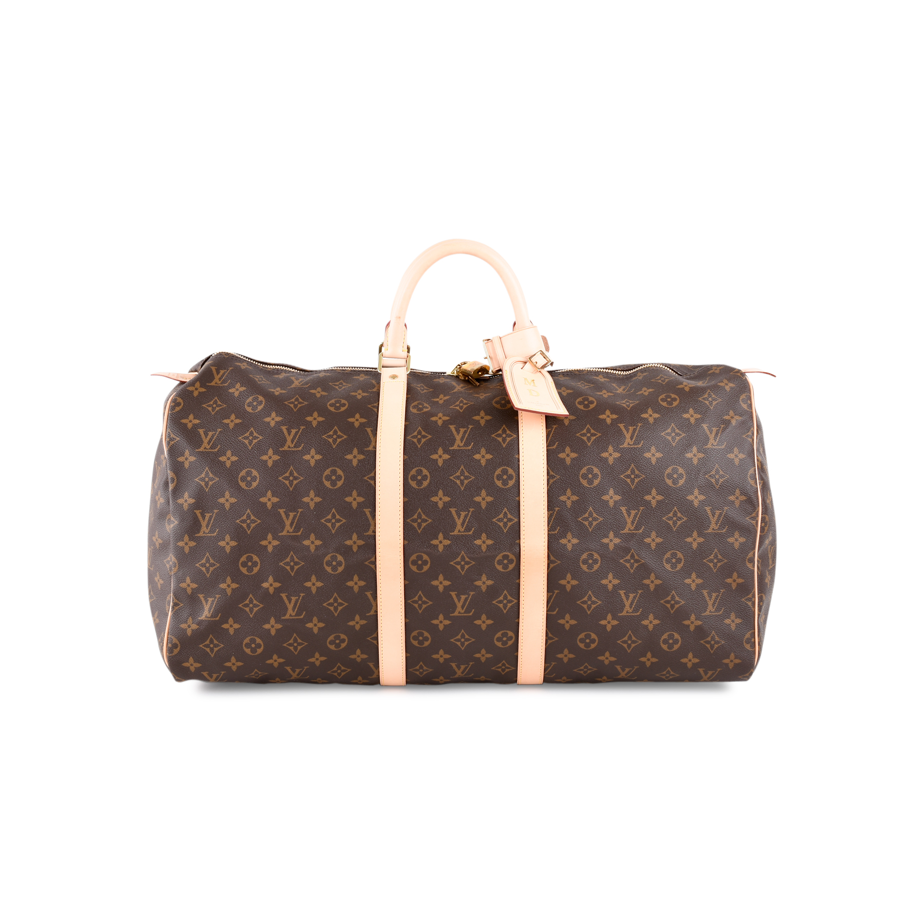 4f1fb0f70dd1 Authentic Second Hand Louis Vuitton Monogram Keepall 55 (PSS-462-00024)