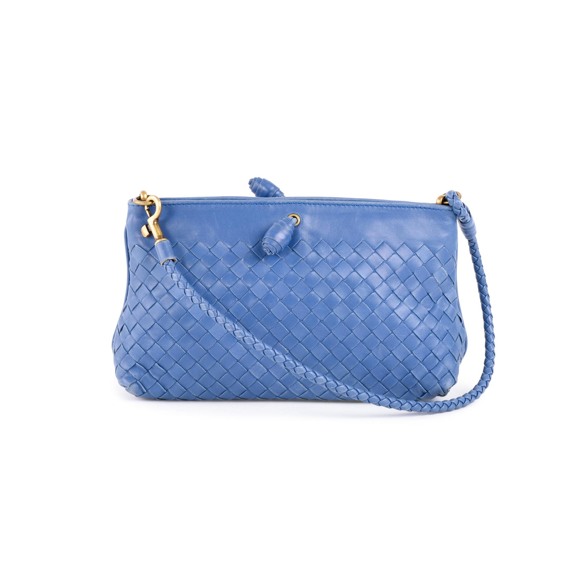 43e2d44f33 Authentic Second Hand Bottega Veneta Intrecciato Small Leather Shoulder Bag  (PSS-462-00032)