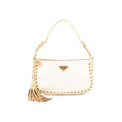 Woven Tassel Shoulder Bag