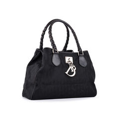 Dior black monogram shoulder bag 2?1522828876