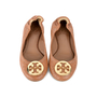 Authentic Second Hand Tory Burch Snakeskin-Embossed Logo Flats (PSS-225-00030) - Thumbnail 0