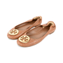 Authentic Second Hand Tory Burch Snakeskin-Embossed Logo Flats (PSS-225-00030) - Thumbnail 3