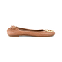 Authentic Second Hand Tory Burch Snakeskin-Embossed Logo Flats (PSS-225-00030) - Thumbnail 4